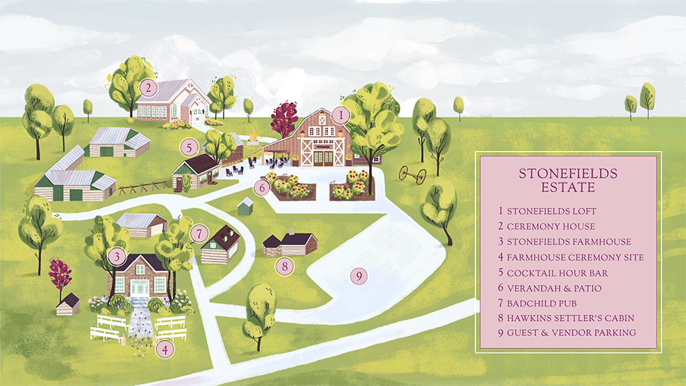 Stonefields Estate Wedding Venue Map